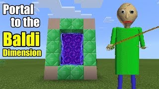 Portal to the BALDI Dimension | Minecraft PE