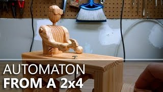 getlinkyoutube.com-Stanley, the Hammering Automaton: Built from a 2x4 and one nail.