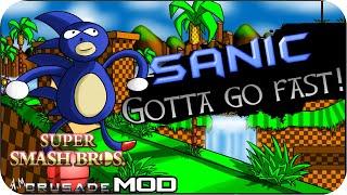 getlinkyoutube.com-Super Smash Bros Crusade MOD - Sanic Character!
