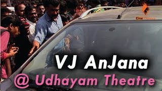 getlinkyoutube.com-Sun Music VJ Anjana @ Udhayam Theatre - Anegan movie | Dhanush | Karthik | K. V. Anand