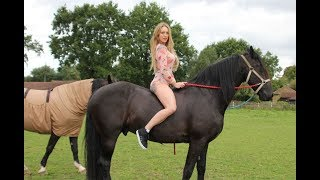 Tracy Kiss Behind The Scenes Horses Photoshoot width=