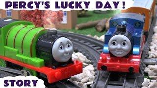 getlinkyoutube.com-Thomas & Friends Real Steam Percy Story Steam Along Thomas Y Sus Amigos Trackmaster