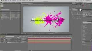 getlinkyoutube.com-After Effects Tutorial : Create a 3D Logo With Animated Paint Splatters.
