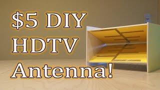 getlinkyoutube.com-$5 DIY HDTV Antenna! Get FREE TV!