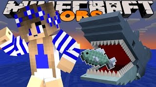 Minecraft-Little Carly Adventures-JAWS ATTACK w/Little Kelly.