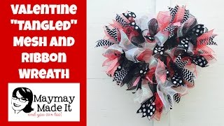 getlinkyoutube.com-Mesh and Ribbon Wreath Tutorial for Valentines