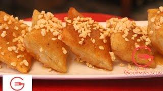 getlinkyoutube.com-Crêpes croustillantes au miel-   رغايف اللوز و العسل مقرمشة بطريقة جد بسيطة