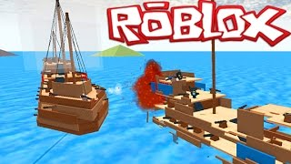 getlinkyoutube.com-Roblox Epic Games #1- CRAZY BATTLE AT SEA GAME! Roblox Float Your Boat (Roblox Gaemplay)