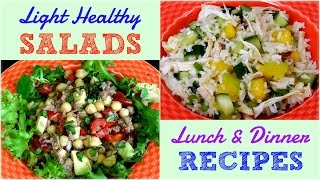 getlinkyoutube.com-Light Healthy Salads for Lunch & Dinner (Weight Loss Recipes)