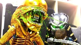 getlinkyoutube.com-Alien VS Predator Stop Motion 異型VS終極戰士