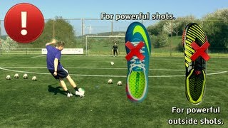 getlinkyoutube.com-How to Shoot a Soccer Ball with Power - Tutorial by freekickerz