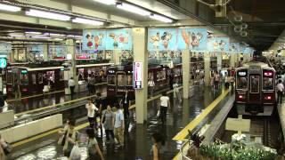 getlinkyoutube.com-阪急特急、「事故による遅れを取り戻せ!」のクイックターン。