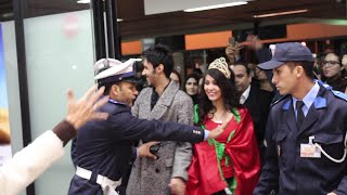 getlinkyoutube.com-لحظة دخول واستقبال ابتسام تسكت وعبد السلام في مطار محمد الخامس video HD