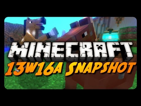Minecraft Snapshots - 13w16a - Tamable Horses, Wool Carpets & More!
