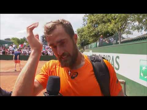 Emotional Steve Johnson after RG win