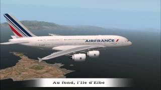 getlinkyoutube.com-X-Plane 10 L'Airbus A380 d'Air France relie Bastia à Rome