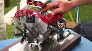 Mini CNC 4-axis and Miniature Chevrolet V8: Super Sound!!