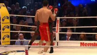 getlinkyoutube.com-Wladimir Klitschko vs Hasim Rahman: Highlights (HBO Boxing)