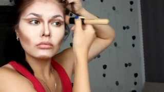 Коррекция лица, жесткий контуринг, скульптурирование кремовыми корректорами