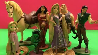 getlinkyoutube.com-Disney Pixar Princess Rapunzel 7 Piece Figurine PlaySet by DisneyToysReview
