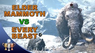 getlinkyoutube.com-Far Cry Primal Battle Challenge - Can all your tamed Beasts take down one Elder Mammoth?