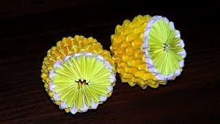 getlinkyoutube.com-Модульное оригами лимон мастер класс (мк)