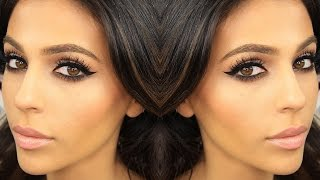 getlinkyoutube.com-Smokey Eye Makeup + Winged Eyeliner | Eye Makeup Tutorial | Teni Panosian
