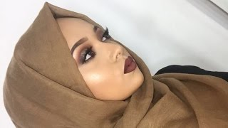 getlinkyoutube.com-My Everyday Hijab Tutorial + Matching Glowing Glam Makeup Tutorial