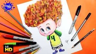 getlinkyoutube.com-HOTEL TRANSYLVANIA 2 / How to Draw Dennis / Como dibujar a Dennis