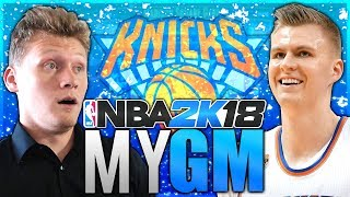 PUTTING THE KNICKS BACK ON THE MAP! NBA 2K18 MyGM #1