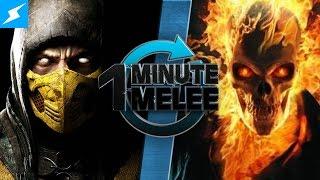 getlinkyoutube.com-One Minute Melee - Scorpion Vs Ghost Rider (Mortal Kombat vs Marvel)