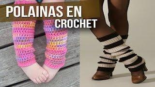 getlinkyoutube.com-Polainas Tejidas en Crochet y dos agujas ( diseños e ideas )
