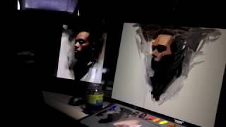 """getlinkyoutube.com-""""Painting a portrait from photo"""" by Casey Baugh"""