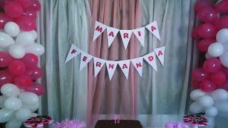 getlinkyoutube.com-Como fazer : Painel de tecido para festas