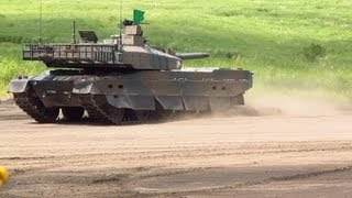 getlinkyoutube.com-10式戦車 ありえない驚速ダッシュ!The front secession of Type 10 Mbt.