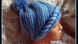 getlinkyoutube.com-Спиральная шапочка (спицы). Knitting hat