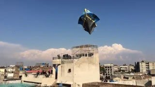 Biggest kite in the history of Adra Tench Bhatta on Basant Festival 2015
