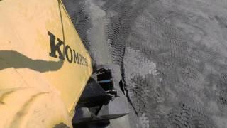 Black Sand Barge Unloading - Timelapse