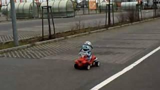 getlinkyoutube.com-RC Verbrenner Bobbycar & Crazy Frog