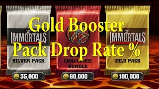 WWE Immortals - Gold Booster Packs Drop Rates -  Randy Orton Confirmed Inside