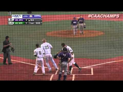 2013 Baseball #CAAChamps Game 5 -- #2 William & Mary 20, #6 James Madison 19