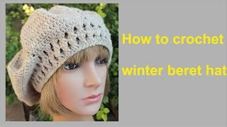 getlinkyoutube.com-How to crochet winter beret hat free pattern tutorial by wwwika