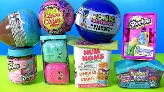 getlinkyoutube.com-Peppa Pig Opening Toys Surprises Lil Woodzeez NUM NOMS Shopkins Chef Sonic Barbie Funtoyscollector