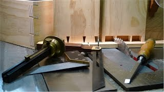 "getlinkyoutube.com-Столярные Хитрости. ""Ласточкин Хвост"" на Циркулярке. How to Cut Dovetails on a Table Saw"