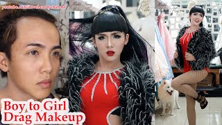 Drag Queen Makeup Transformation For  Asian Pride Event ✔