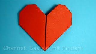 getlinkyoutube.com-Herz falten ❤ Einfaches DIY Geschenk basteln - Origami Herz - Basteln Ideen - Mama