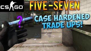 getlinkyoutube.com-CS GO - Five-Seven Case Hardened Blue Top Trade Up Attempts! (CSGO Skins)