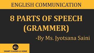 getlinkyoutube.com-8 parts of speech (grammar) lecture, BA, MA by Jyotsna Saini