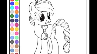 getlinkyoutube.com-My Little Pony Painting Games MLP Coloring Pages