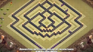 getlinkyoutube.com-TH10 NEW WALLS WAR BASE - THE MASK - Clash of Clans
